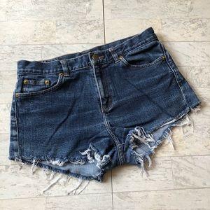 Ralph Lauren   Cutoff Denim Shorts